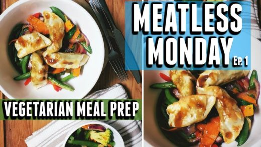MEATLESS MONDAY | MEATLESS MEAL PREP |QUICK EASY VEGETARIAN RECIPES | GYOZA & STIR FRY | TASTEPINK