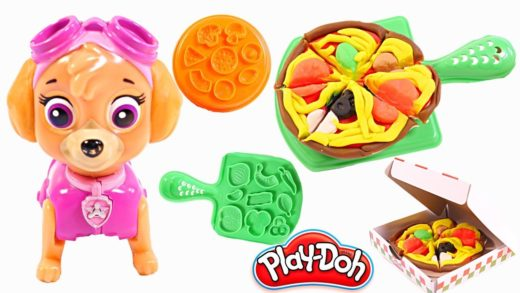 Mejores Videos Para Niños - Paw Patrol Skye Play Doh Making Pizza Fun For Kids