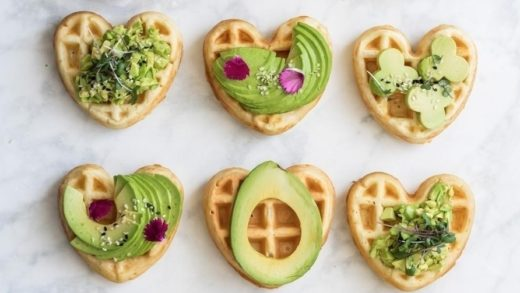 Mini  waffles topped with all kinds of avocado . Thanks  for sharing!!! www.coconutbowls.com                                               ...