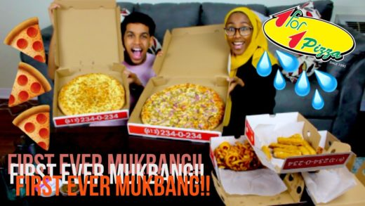 OUR FIRST EVER PIZZA MUKBANG!!