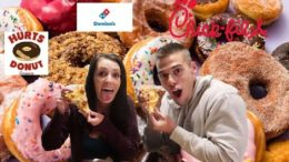 PIZZA DONUTS AND CHICK FIL A CHEAT DAY MUKBANG!