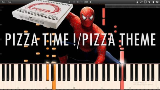 PIZZA TIME !/PIZZA THEME - Spider-Man 2 The Game OST (Synthesia Piano Tutorial)+SHEETS&MIDI