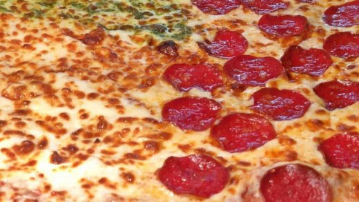 Pepperoni, Cheese, and Pesto in one PIZZA!  Which is your fave?!  :  Love food?  Follow us:  Tag a Pizza Lover! ...