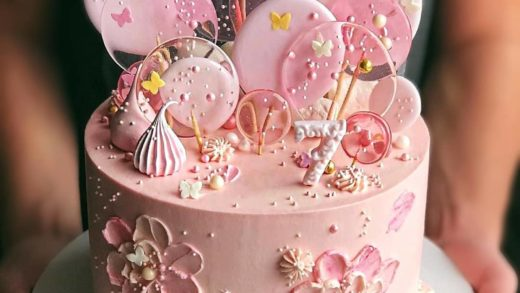 Pink Lollipop princess cake for 7th birthday   What do you think? Do you remember your 7th birthday cake? I don't remember.. - Start to bake with ...