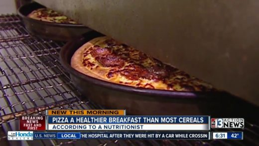 Pizza healthier than most breakfast cereals