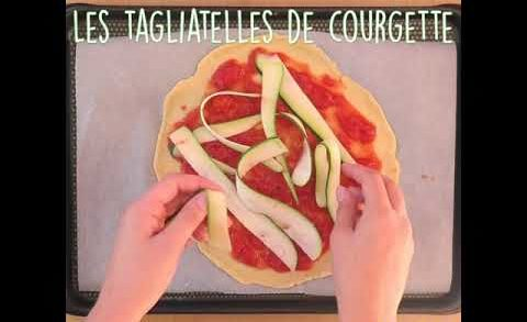 Pizza mozzarrela tomate et courgette