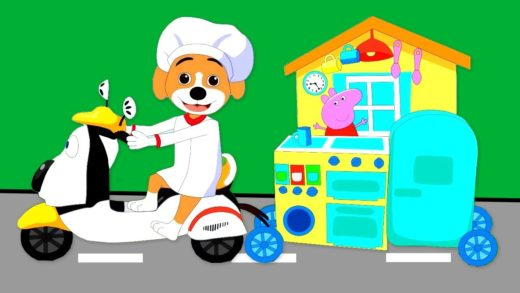 Puppy Pretend Play Cafe Kitchen Toy Cooking Pizza Food