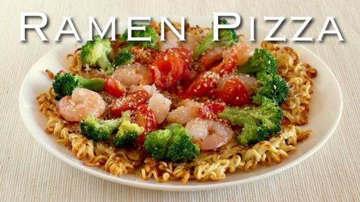 RAMEN PIZZA (Crispy Crust) Recipe | OCHIKERON | Create Eat Happy :)