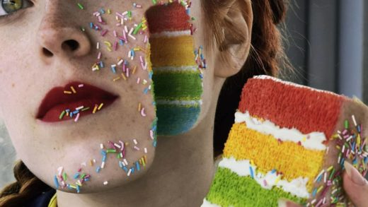 Rainbow Cake anyone ? Achieved through amazing make up skills. No Photoshop.  Tag your  friends.  By  ...