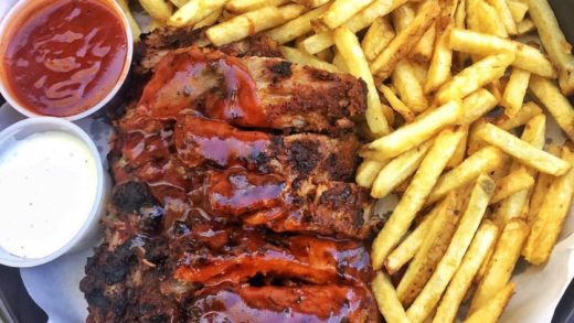 Ribs and fries are so damn good  •   •...