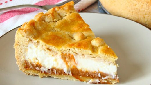 Ricotta Pie with Dulce de Leche | Argentine Pie