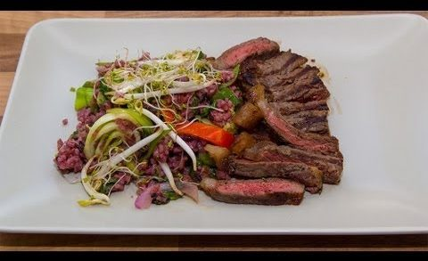 Search for a Food Tube Star: Asian Rice Salad with Grilled Roastbeef