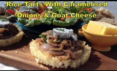Search for a Food Tube Star Rice Tarts with Caramelised Onions & Goats Cheese cheekyricho