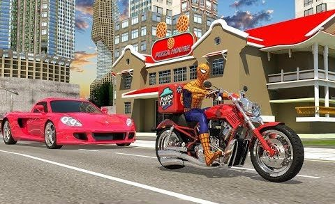 Spider Bike Pizza Delivery | Super Spider Boy Moto Pizza Delivery - Android GamePlay
