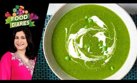 Spinach And Peas Soup Recipe by Chef Zarnak Sidhwa 15 November 2018