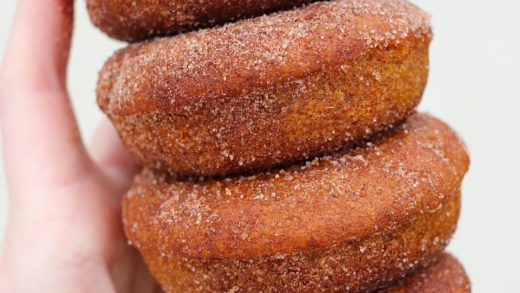 Stacks of vegan & gf PUMPKIN CHAI DONUTS From  What's your favorite donut flavor?...