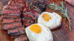 Steak and Eggs for Breakfast  • •  via  Werbung ・・・ Steak and eggs: the breakfast of champions!                              …