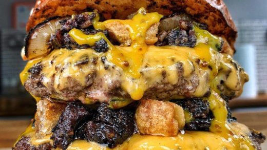 | :  -  Stick a syringe in me, I'm done! Jus jab, black pudding, pork scratchings, charred onions, cheese and mustard ketchup. The USP from       • • •                 ...
