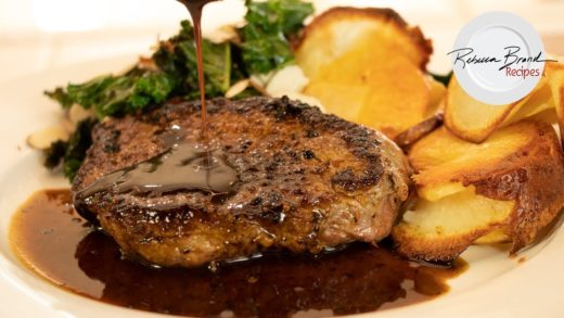 Stove Top Steak Recipe:  Mesquite Steak & Crispy Cheesy Potatoes by  Home Chef   Tasty Quick Meals