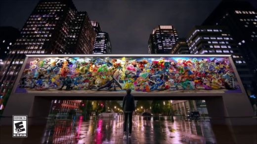 Super Smash Bros Ultimate ad with the Spiderman Pizza theme