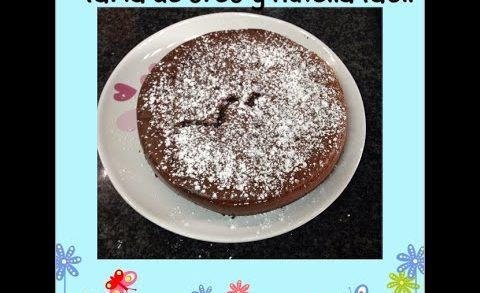 Tarta de oreo y nutella con tres  ingredientes  super facil