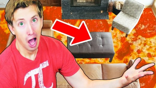 The Floor is PIZZA???!! 100 LAYERS of PIZZA / Floor is Lava Prank w. Chad Wild Clay! ~ pocket.watch