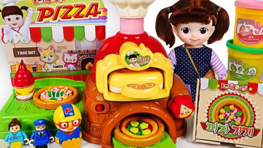 Tittipo, Pororo eat cheese pizza! Make it play doh! Baby doll Pizza shop toy #PinkyPopTOY
