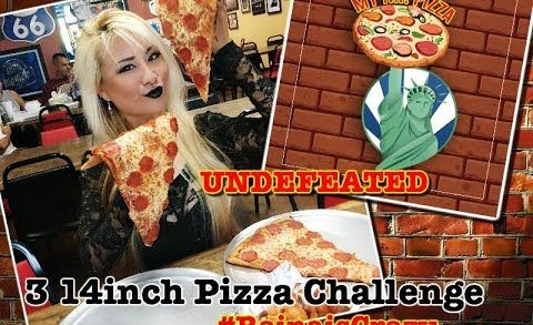 """UNDEFEATED 3 14"""" Slices of Pizza EATING CHALLENGE 