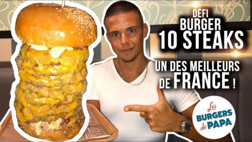 Un BURGER à 10 STEAKS !! L'un des MEILLEURS de FRANCE ! (#5 Food Tour Nantes)