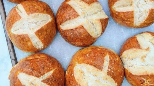 Vegan pretzel buns by  Who wants this for breakfast?!  . Thanks  for sharing!!! www.coconutbowls.com                        ...