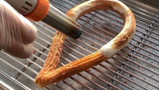 Watching this Toasted Marshmallow Loop Churro being torched on loop  We're open til MIDNIGHT tonight   ...