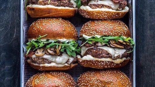 Who's going to help you eat all these burgers  from   . .         ...