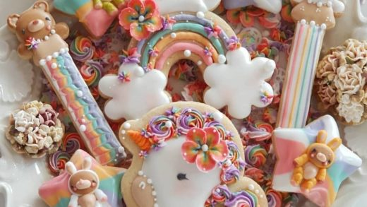 YES OR NO?? Unicorn, rainbow and cloud cookies by  . its so cute!!!!! i want this!!                       ...