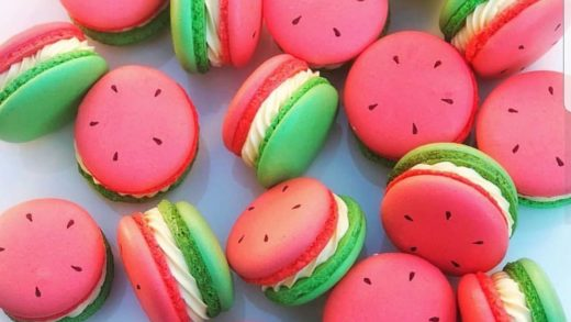 YES OR NO?? Watermelon macarons  by  repost  I love the watermelon macarons!!! Its so cute!!! Ces macarons sont trop chou!!!                        ...