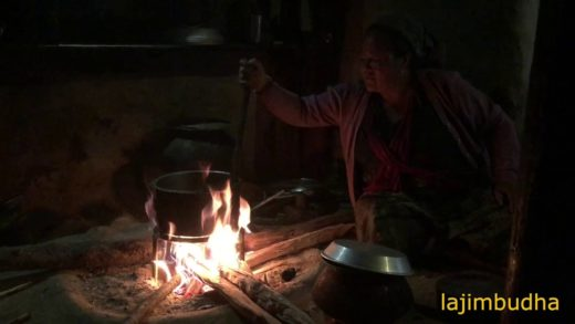 rooster soup in indigenous house