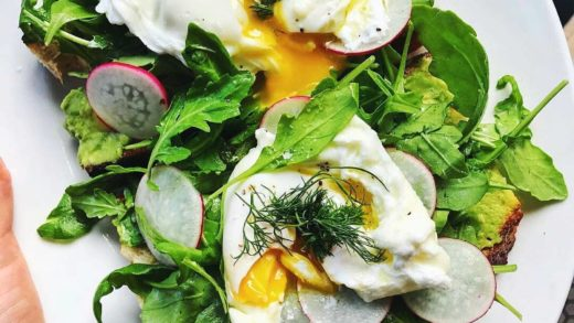 toasts topped with arugula, dill, radish &    By                              ...