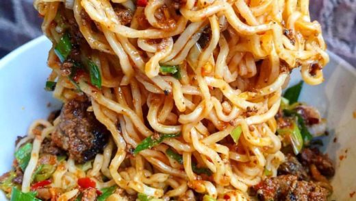 Comfort food can make any Monday better  Dan Dan Noodles with Ground Pork, Ground Beef, Ginger, Scallions, and Sichuan Chili Sauce $9.95 from  : Tag A Friend That Would Dig This!  Follow   Follow   Follow     &  All rights and credit reserved to the respec...