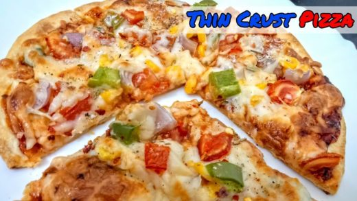घर बनाये थीन क्रस्ट पिज़्ज़ा  Pizza Hut Dominos Style Thin Crust Pizza (Base Recipe Included)