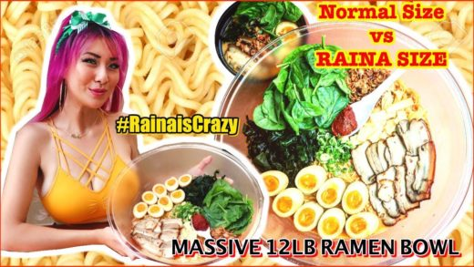12lb Bowl of Ramen Eating Challenge @Soho Ramen in RIverside, California | RainaisCrazy