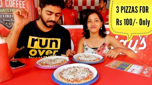 3 PIZZAS FOR RS 100 | Indian Fast food | Gujarat Food | Indian Street food | Ajay's | #foodvlog