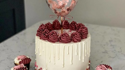 A matching set with Ballon topper.   What do you think?  What do you like the most about this set? - Start to bake with ...