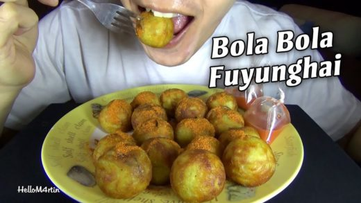 ASMR Eating Sound - Let's Eat Bola Bola Fuyunghai