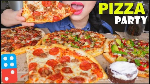 ASMR PIZZA PARTY | DOMINOS AUSTRALIA | CHOCOLATE LAVA CAKE | EATING SOUNDS | NO TALKING