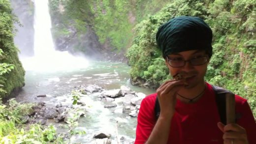 Cafe Latte Kit Kat Taste Test (In Front of Tappia Waterfall, Batad)