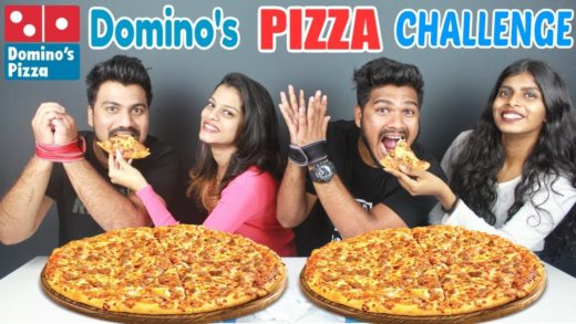 DOMINOS CHICKEN PIZZA CHALLENGE | PARTNER vs PARTNER EATING COMPETITION|Food Challenge India(Ep-116)