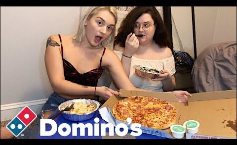 DOMINOS PIZZA + PASTA MUKBANG (DOES PINEAPPLE BELONG ON PIZZA???)