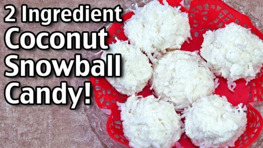 Easy Christmas Candies - 2 Ingredient Coconut Snowball Candy!