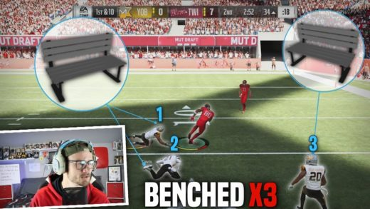 Every Time Somebody makes a MISTAKE they get Benched for the entire Game?? FUNNY MADDEN 19 CHALLENGE