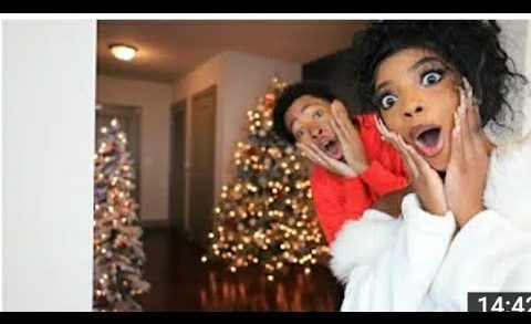 FINALLY REVEALING OUR CHRISTMAS  DECORATED PENTHOUSE *SHOCKING* |  VLOGMAS DAY 1 DK4L REACTION
