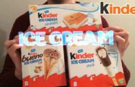 FOODporn.pl FOOD ASMR Test Glace Kinder ICE CREAM bueno stick sandwich -dégustation/nourriture/mukbang- Français